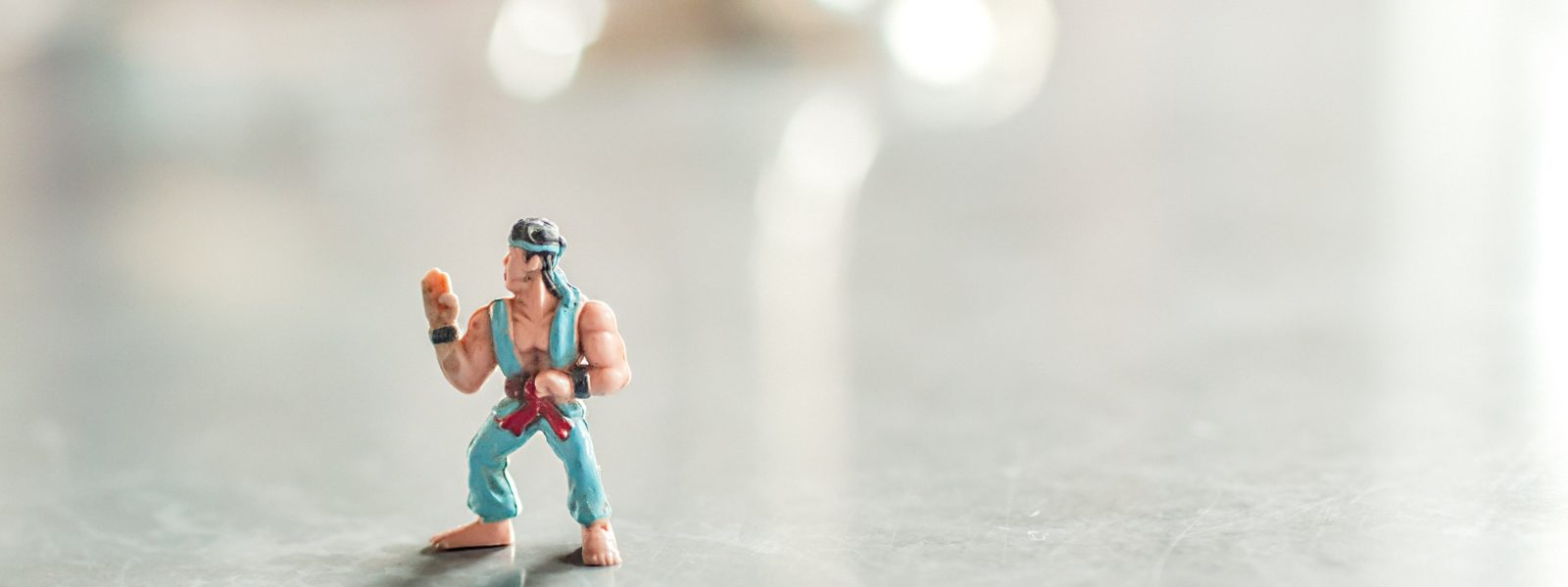 The Comma Chameleon copywriting, editing and proofreading team is ready to kick some butt, as demonstrated by this miniature toy karate man.