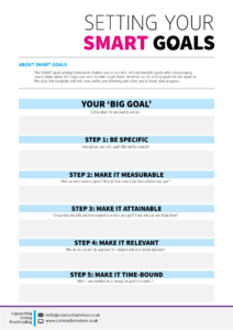 Comma Chameleon's SMART goal template