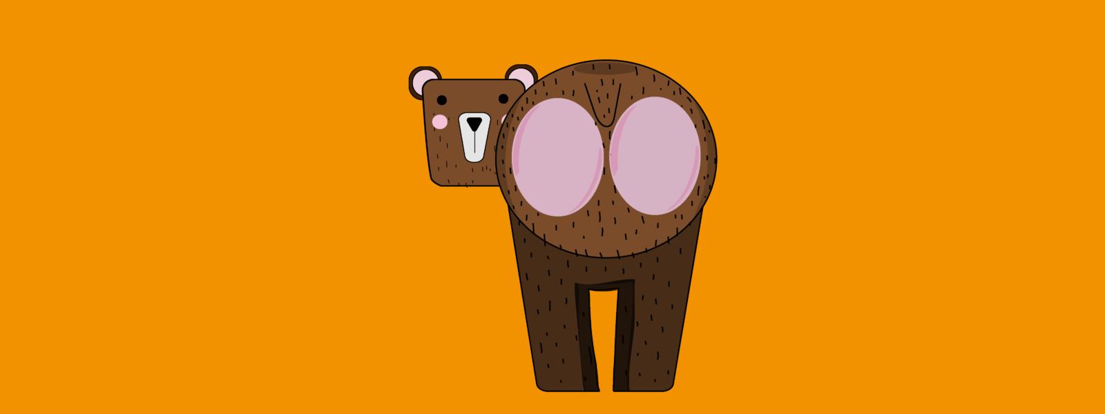 A bear with a bear bottom