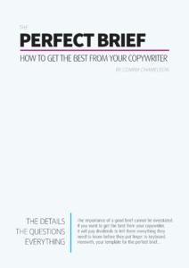 Copywriter brief template