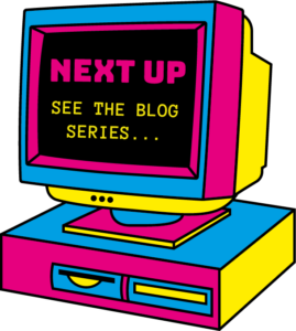 Retro computer that links to blog series home page